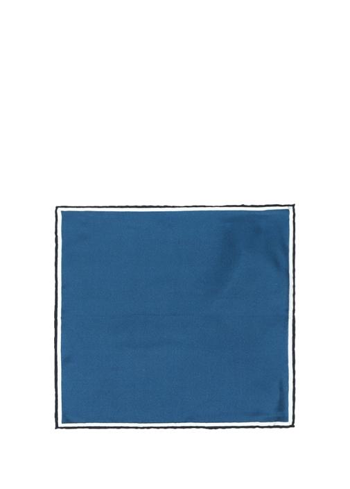 Mavi Biyeli İpek Poşet Mendil