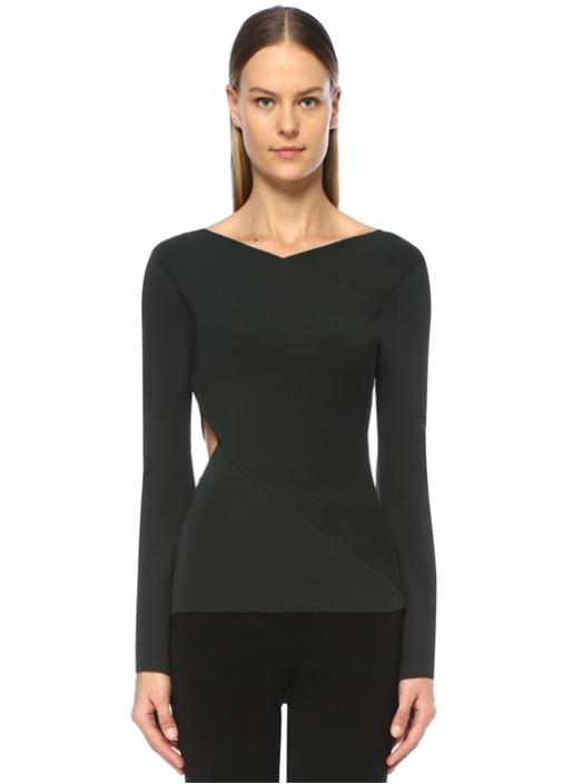 Linda Haki Pencere Detaylı Bluz