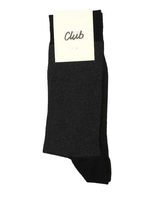 siyah Renk Detaylı Erkek Çorap