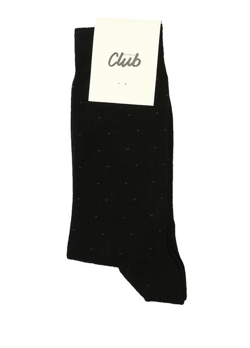 Siyah Puantiyeli Erkek Çorap
