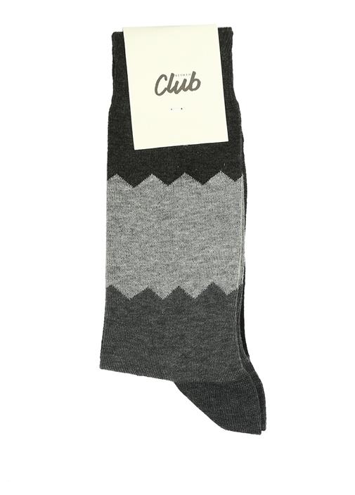 Antrasit Desenli Erkek Çorap