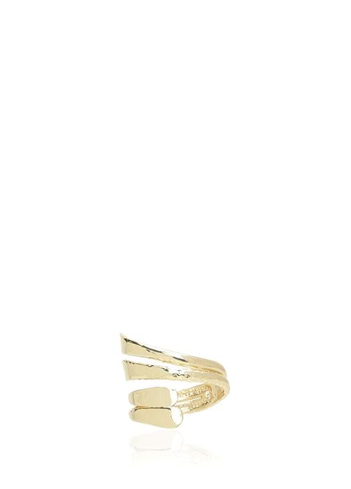 Gold Çift Katlı Sarmal Kadın Yüzük