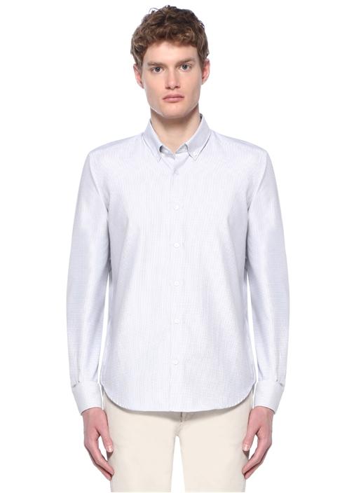 Non Iron Comfort Fit Beyaz Karo ArmürlüGömlek