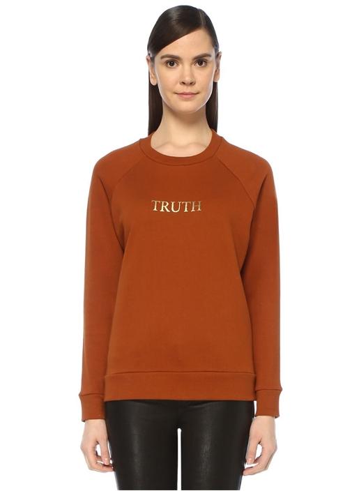 Truth Tarçın Gold Baskılı Reglan Kol Sweatshirt