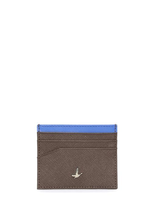 Kahverengi Mavi Logolu Erkek Deri Kartvizitlik