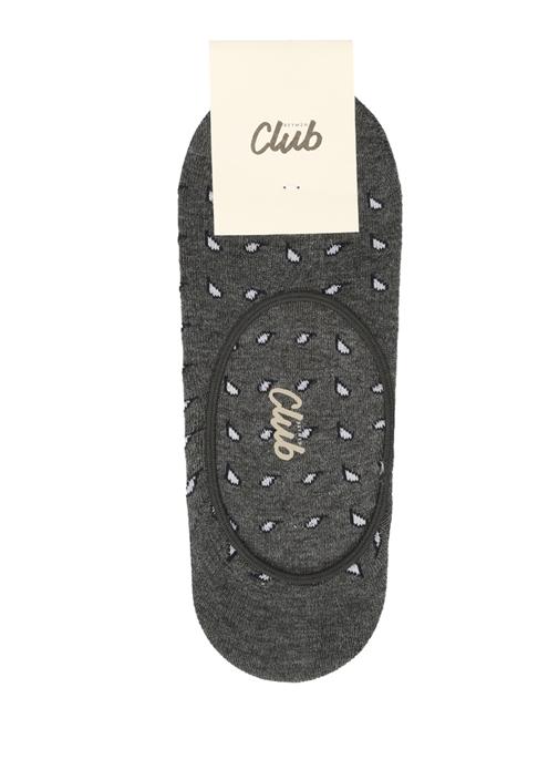 Antrasit Mikro Şal Desen Jakarlı Erkek Çorap