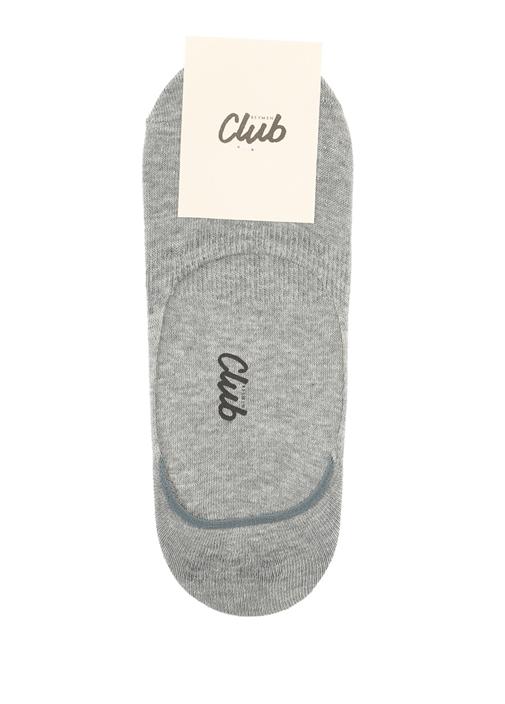 Gri Logo Jakarlı Erkek Çorap