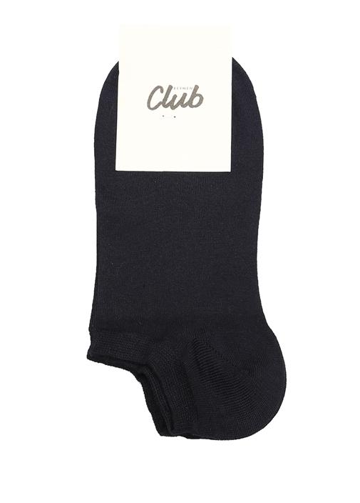 Lacivert Logo Jakarlı Kadın Çorap