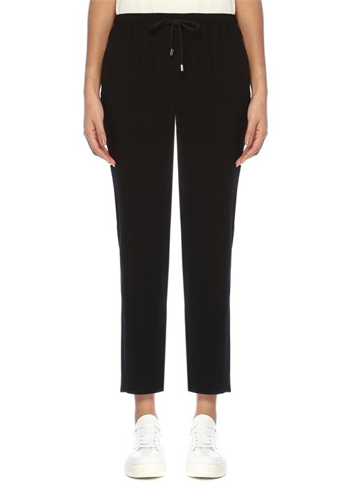 Siyah Pijama Formlu Krep Pantolon