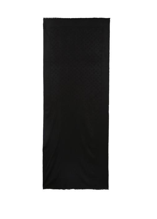 Siyah Logo Motifli 65x180 cm İnce KadınŞal