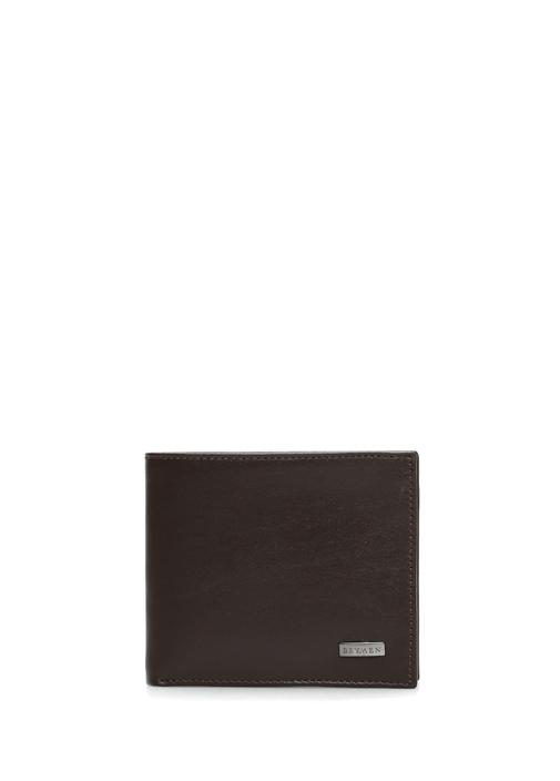 334e7c711a768 Beymen Hediye - Kahverengi Logolu Erkek Deri Cüzdan - Renk Kahverengi