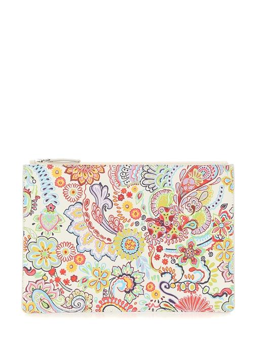 Colorblocked Etnik Desenli Kadın El Portföyü