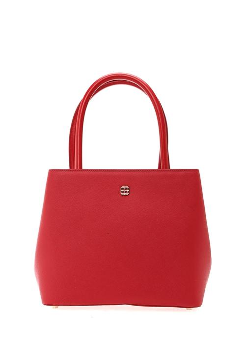 Essential Kırmızı Gold Logolu Kadın Omuz Çantası